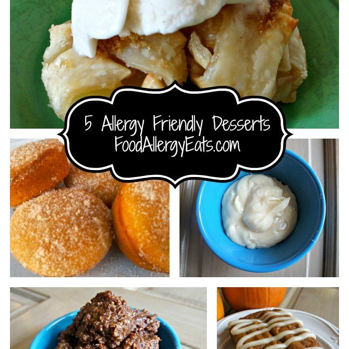 5 Allergy Friendly Desserts from @FoodAllergyEats #vegan