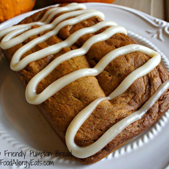 Allergy Friendly Pumpkin Bread on FoodAllergyEats.com