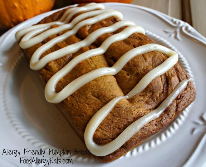 Allergy Friendly Pumpkin Bread
