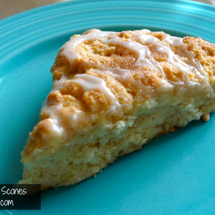 Eggless Cinnamon Scones