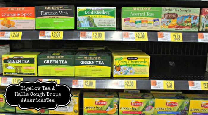 Bigelow Tea & Halls Cough Drops #AmericasTea #shop #cbias