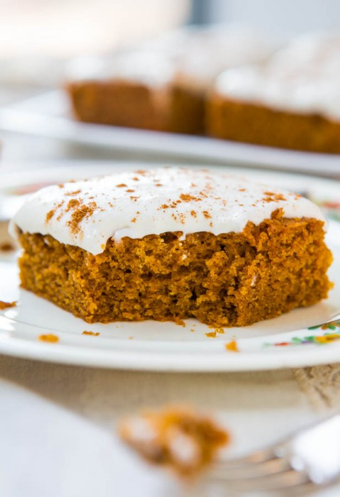 Pumpkin Cake with Spiced Buttercream Icing
