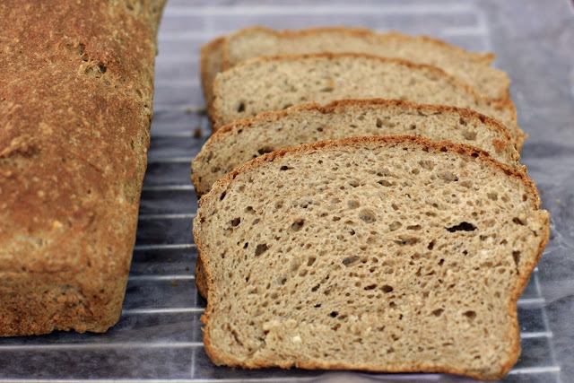 Brown Sandwich Bread with Teff, Gluten-Free