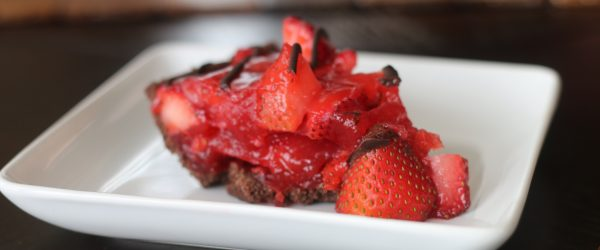 Gluten Free Chocolate Covered Strawberry Pie #glutenfree