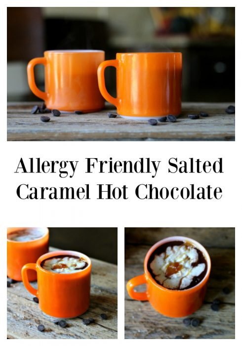 Allergy Friendly Salted Caramel Hot Chocolate