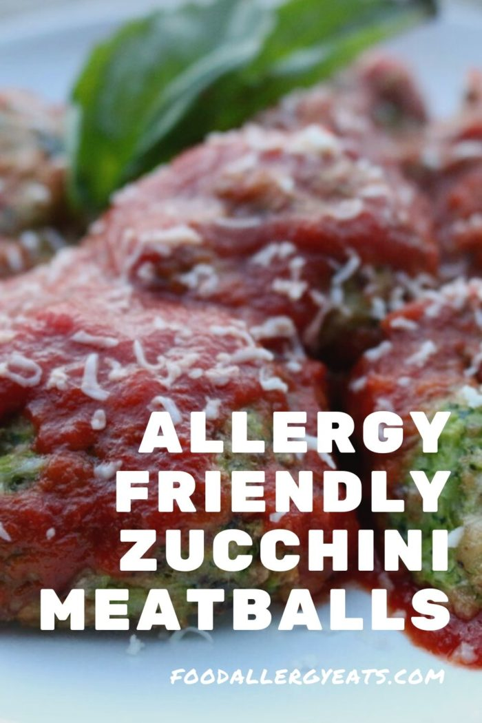 Allergy Friendly Zucchini Meatballs
